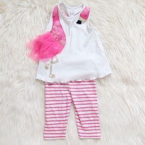 Mud Pie Flamingo Outfit